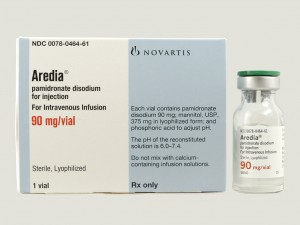 Aredia package and bottle for injection