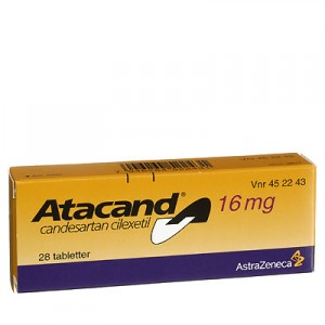 Package of Atacand tablets