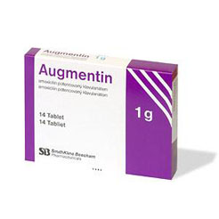 Package of Augmentin tablets