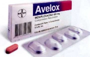 Avelox package and tablets