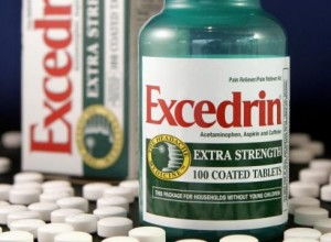 Bottle and pills of excedrin