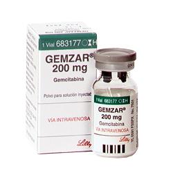 Bottle of Gemzar Injection