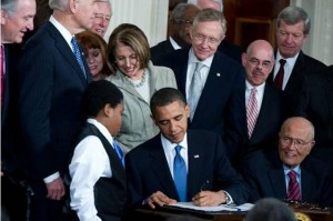 patient protection and affordable care act with obama signing