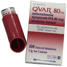 Qvar aerosol and package