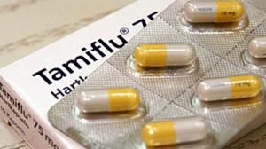 Tamiflu capsule used for treating influenza.
