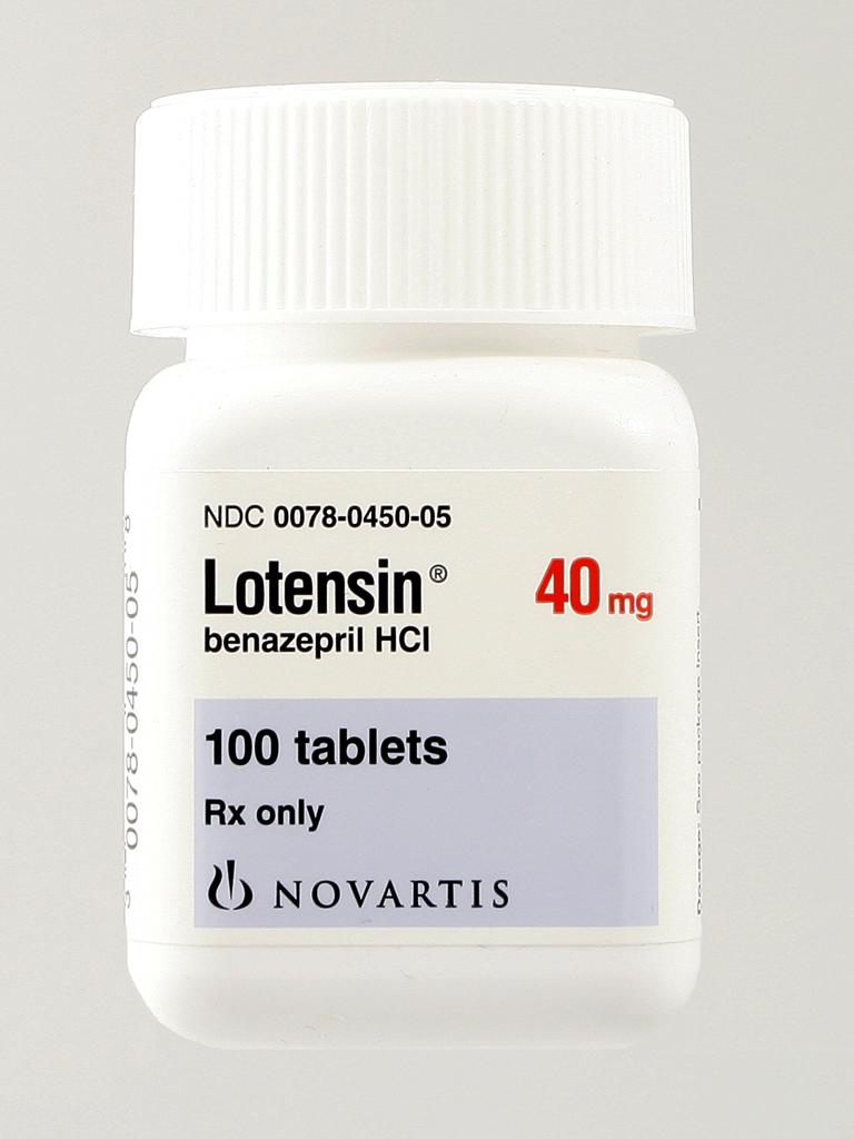 lotensin tablet bottle