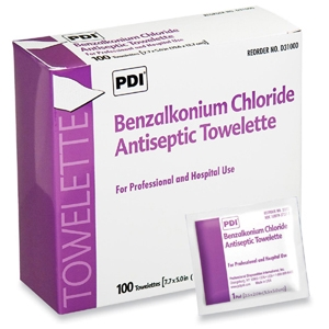 Benzalkonium Chloride wipes and package