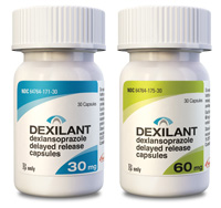 Two dexilant bottles 30mg and 60mg