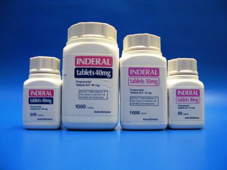 inderal tablet bottles