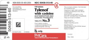 tylenol with codeine 3 label