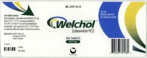 welchol package label
