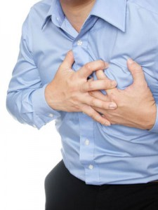 chest pain, man holding chest