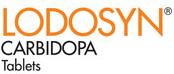 lodosyn carbidopa tablets logo