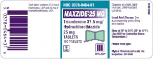 maxzide package label