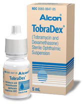 tobradex eye drops and package