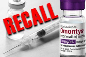 Omontys recall, anemia drug recall